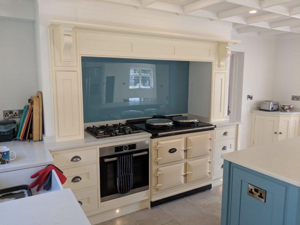 Put personality into your kitchen with these popular versatile Glass Kitchen Splashbacks. Super hygenic. Bespoke Kitchens, Suffolk, Essex, Hertfordshire